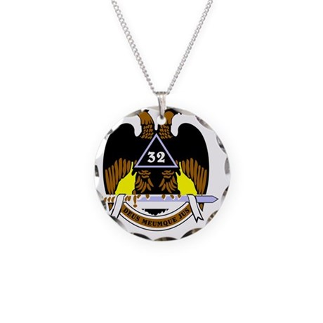 Scottish Rite: 32 Necklace Circle Charm
