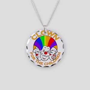 Shriners Clown Necklace Circle Charm