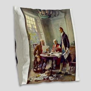 Declaration of Independence 1776 Burlap Throw Pill