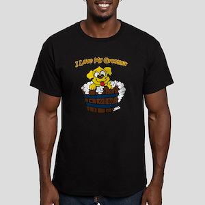 I love my groomer copy Men's Fitted T-Shirt (dark)
