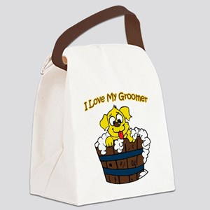 I love my groomer copy Canvas Lunch Bag