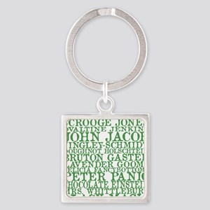 Gus Names Square Keychain