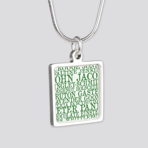 Gus Names Silver Square Necklace
