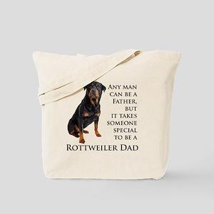 Rottie Dad Tote Bag