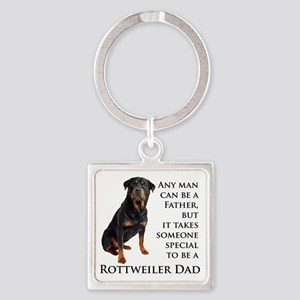 Rottie Dad Square Keychain