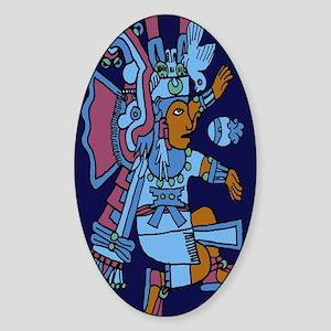 Xiuhtecuhtli Aztec God of Water 23  Sticker (Oval)