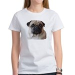 Sweet Pugs Front and Back Women's T-Shirt