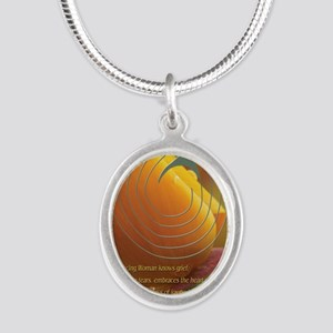 dwposterheartlrger Silver Oval Necklace