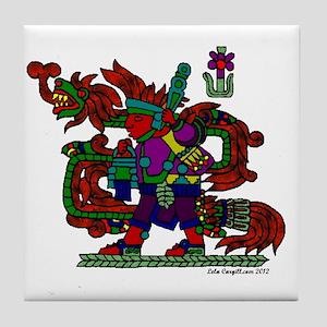 quetzal white t Tile Coaster