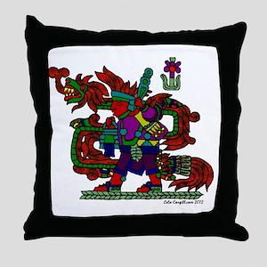 quetzal white t Throw Pillow