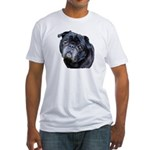 Pugs Coming and Going Fitted T-Shirt
