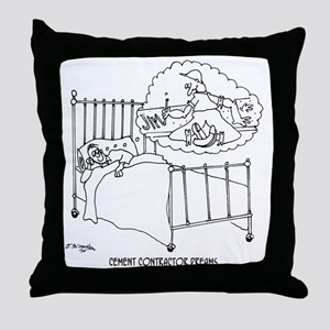 6150_cement_cartoon Throw Pillow