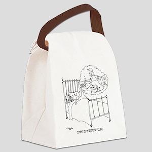 6150_cement_cartoon Canvas Lunch Bag