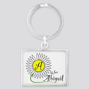 A is for Abigail Landscape Keychain