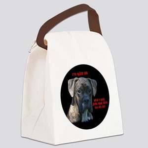 rowdykisserround Canvas Lunch Bag