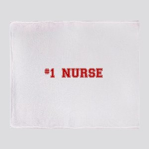 #1 Nurse Throw Blanket