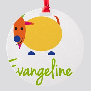Evangeline-the-goat Round Ornament