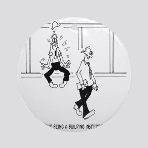 6153_inspector_cartoon Round Ornament