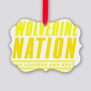 WolverineNationStackLeadersMaize1 Picture Ornament