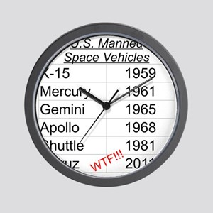 US Manned Space Vehicles Wall Clock