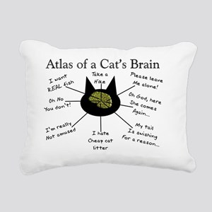 Atlas of a Cats Brain Rectangular Canvas Pillow