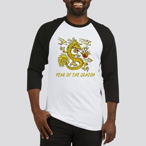 Year Of The Dragon Gold Letters 3D Baseball Jersey