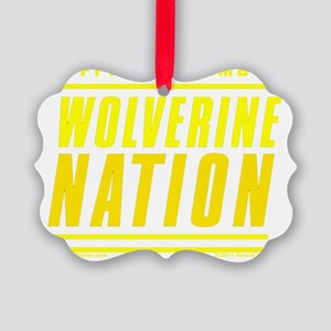 WolverineNationStackMemberMaize1 Picture Ornament