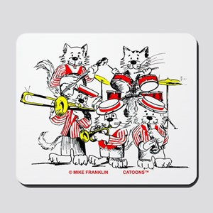 Jazz Cats Trans Back Mousepad