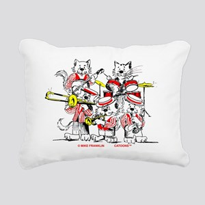 Jazz Cats Trans Back Rectangular Canvas Pillow