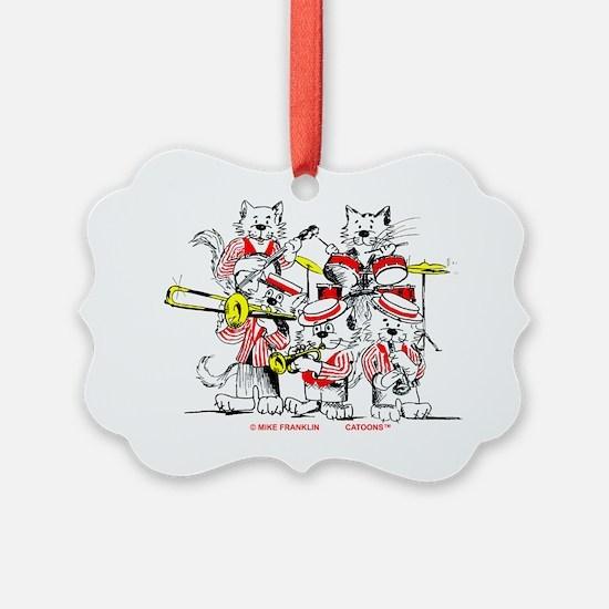 Jazz Cats Trans Back Ornament