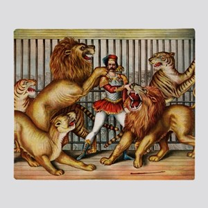 Lion-Tamer-14b10 Throw Blanket