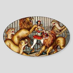 Lion-Tamer-14b10 Sticker (Oval)