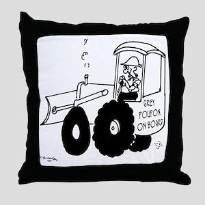 6144_bulldozer_cartoon Throw Pillow