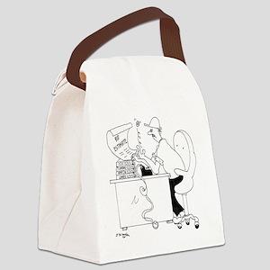 6149_contractor_cartoon Canvas Lunch Bag