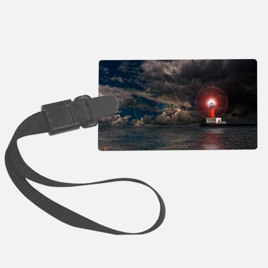 new lighthouse edit 4 Luggage Tag