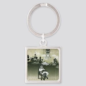 The Wonderland Reader by Bethalynn Square Keychain