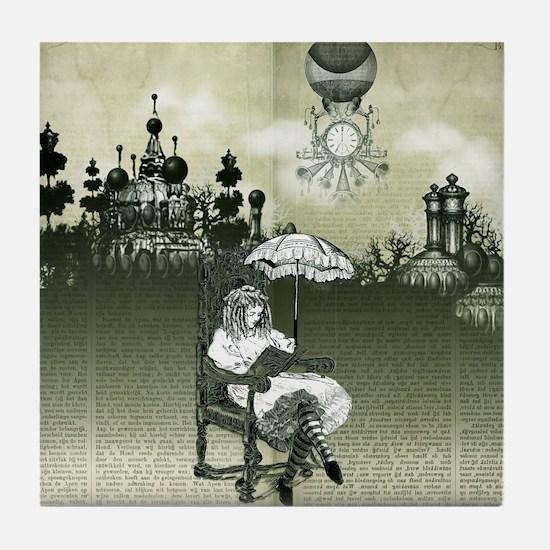 The Wonderland Reader by Bethalynne B Tile Coaster