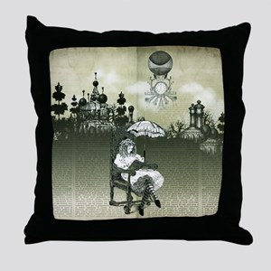 The Wonderland Reader by Bethalynne B Throw Pillow