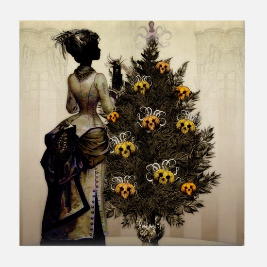 The Christmas Nightmare by Bethalynne Tile Coaster