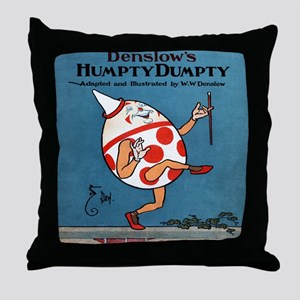 Denslows-Humpty-Dumpty-Book-iPad-2 Throw Pillow
