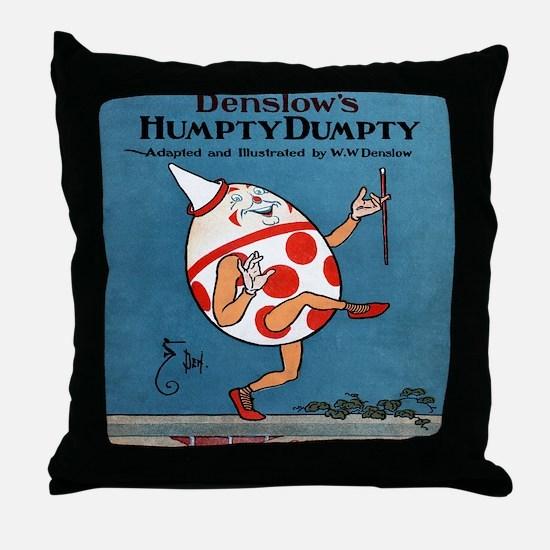 Denslows-Humpty-Dumpty-Book-iPad-2 Throw Pillow