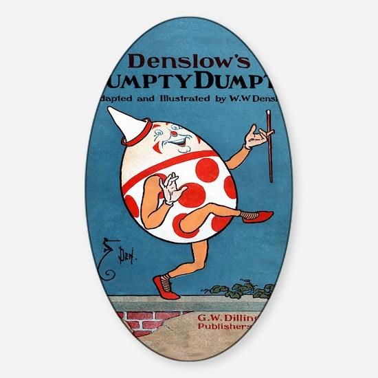 Denslows-Humpty-Dumpty-Book-iPad-2 Sticker (Oval)
