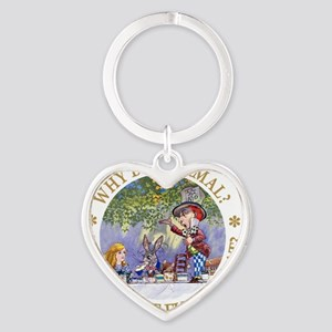 ALICE WHY BE NORMAL_gold copy Heart Keychain