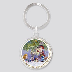 ALICE WHY BE NORMAL_gold copy Round Keychain