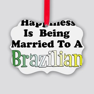 Happiness Married Brazilian Picture Ornament