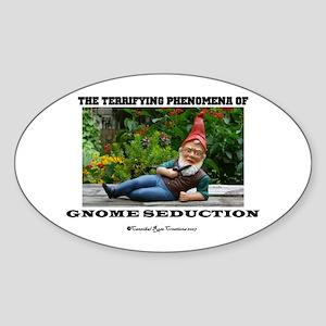 Gnome Seduction Oval Sticker