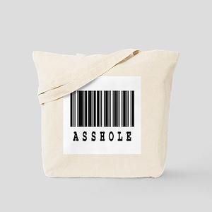 Asshole Barcode Design Tote Bag