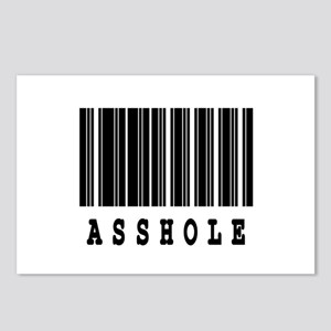 Asshole Barcode Design Postcards (Package of 8)
