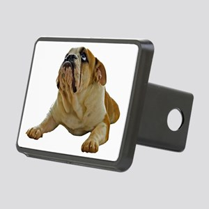 FIN-bulldog-lying-photo-CR Rectangular Hitch Cover