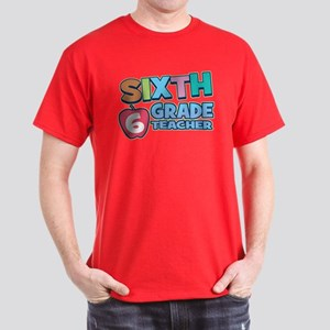 Sixth Grade Teacher Dark T-Shirt